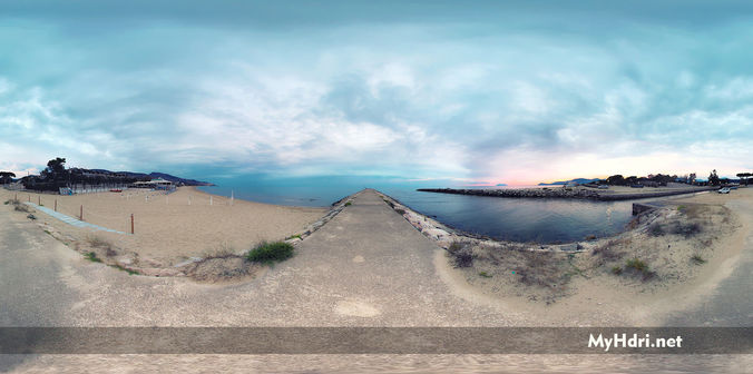 hdri environment sea at sunset 3d model  1