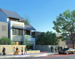 3D CT house exterior