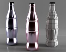 3D model coca cola bottle low
