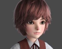 3D model Cartoon Boy NoRig