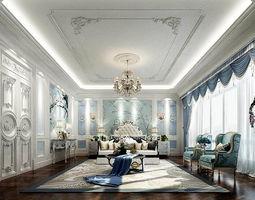 3D model Stylish master bedroom design 48