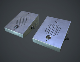 3D asset Intercom Station PBR Game Ready
