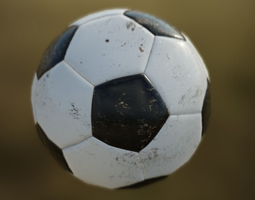 3D asset Soccer Ball PBR Game Ready