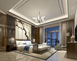 Stylish master bedroom design 69 3D model