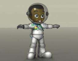 3D model Astronaut Boy
