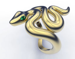 3D print model animal Ring Hiding Snake
