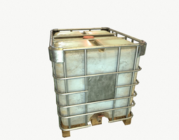 water container 1000L 3D model