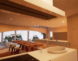 3D model SHC Spanish Modern House 4