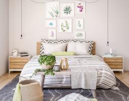 3D Decorative Bedroom Set 01