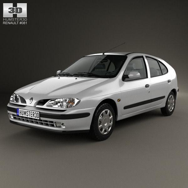Renault Hatchback: 3D Model Renault Megane 5-door Hatchback 1995