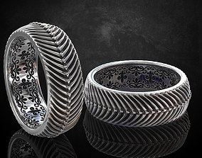 The ring in the style of antiquity sizes 3D print model 4