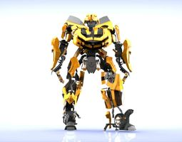 3D model Transformers animated bumblebee