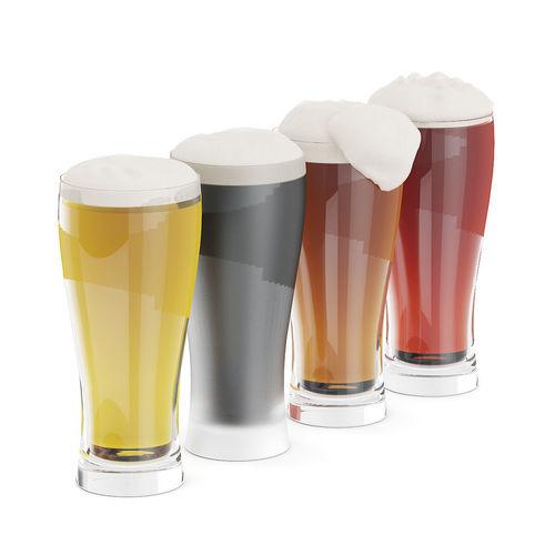 beer glasses 3d model max obj mtl fbx c4d 1