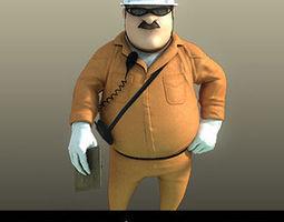 3D Cartoon Worker