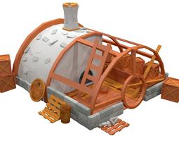 Cartoon house 1 3D model
