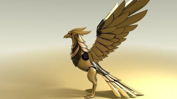 mechanical phoenix 3d model animated max obj mtl 3ds fbx c4d 1