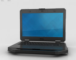 portable 3D model Dell Latitude 14 Rugged