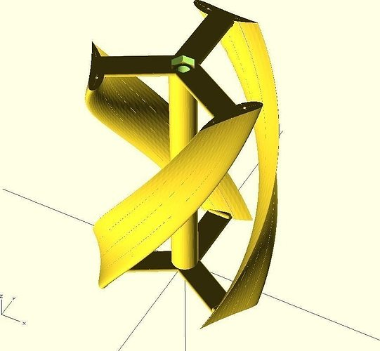 Canny image within 3d printable wind turbine