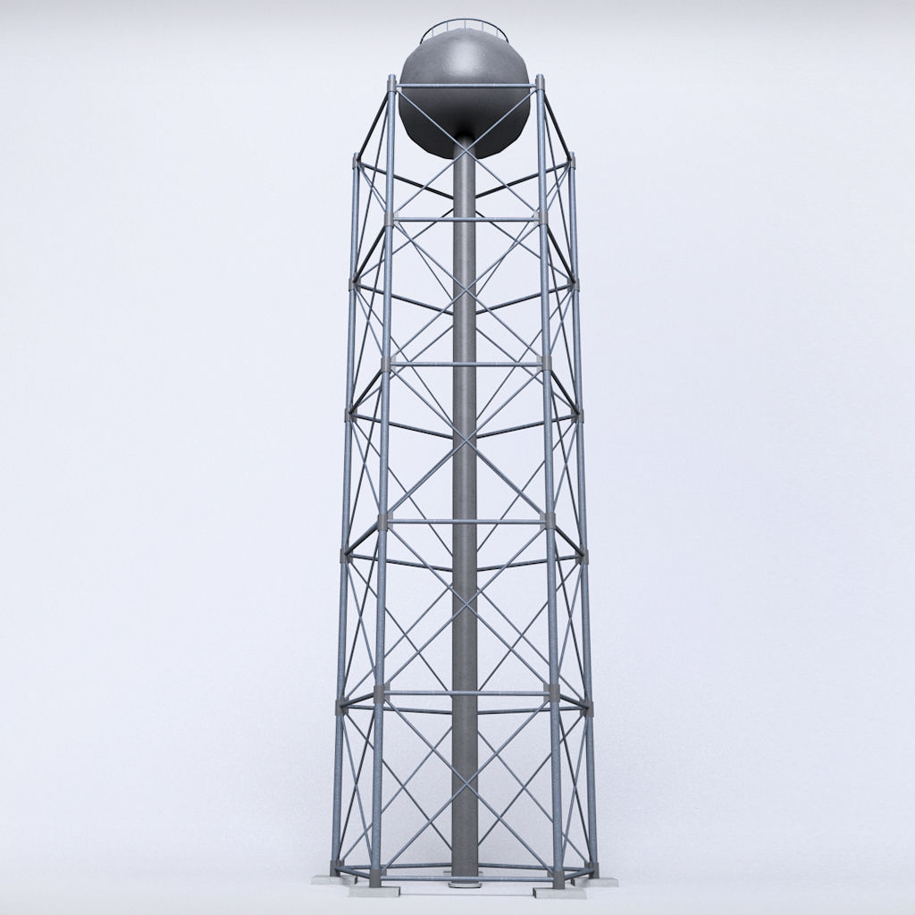 Scaffolding radio tower power small | 3D model