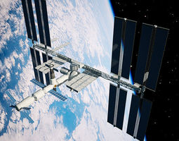 International Space Station russian 3D model