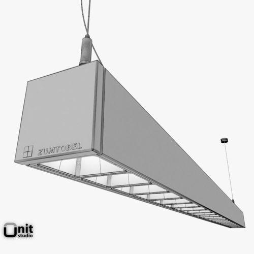 zumtobel lincor pendant led luminaire 3d model max obj 3ds. Black Bedroom Furniture Sets. Home Design Ideas