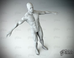 3D asset Male body Vray