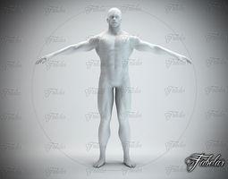 male body std mat 3d model low-poly