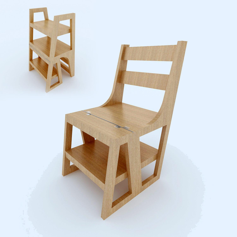 Chair Stair Convertible 3d Model Max 1 ...