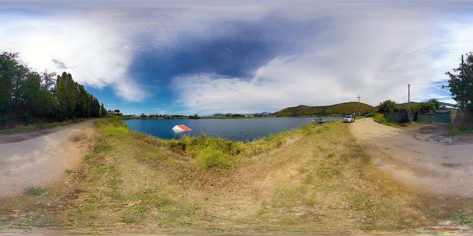 3d Model Hdri Environment Texture Landscape With Lake