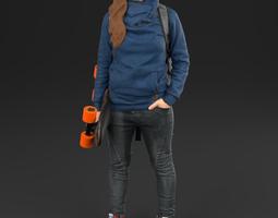 Girl 01 Skater - 3D Scan printable