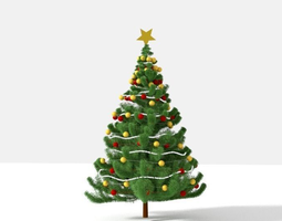 Christmas Tree 3D model combined