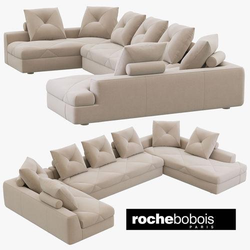 roche bobois preface modular sofa 3d model max obj mtl 3ds fbx 1