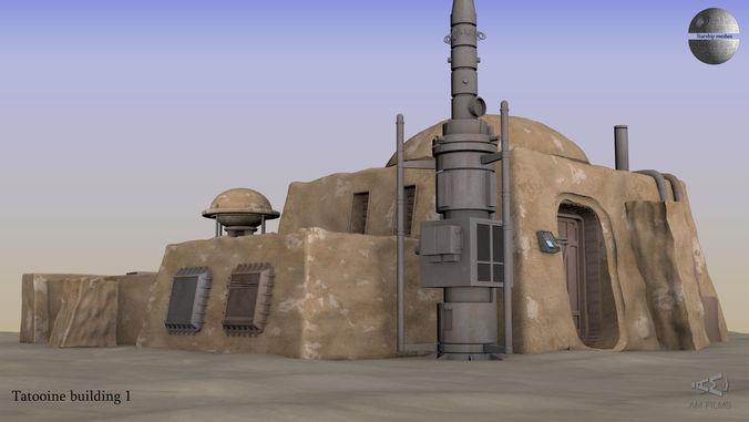 tatooine building 1 3d model max fbx 1