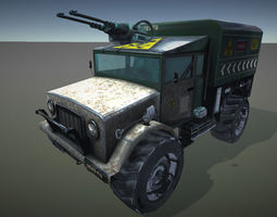 3d model armored truck game-ready
