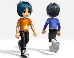 3D asset animated Cartoon Boy