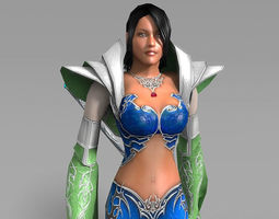 fantasy sorceress 3d model VR / AR ready animated