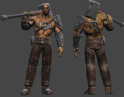 Hammer Warrior 3D asset
