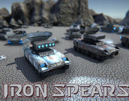 Iron Spears Tank 3D model game-ready