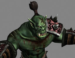 3d asset game-ready animated orc