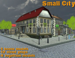 3D asset Small City 3