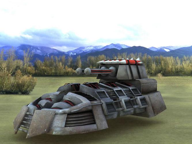 sci-fi hovers  3d model low-poly obj mtl fbx lwo lw lws dae X pdf 1