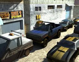 3D asset Cars LowPoly