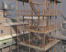 industrial buildings 3 VR / AR ready 3d model