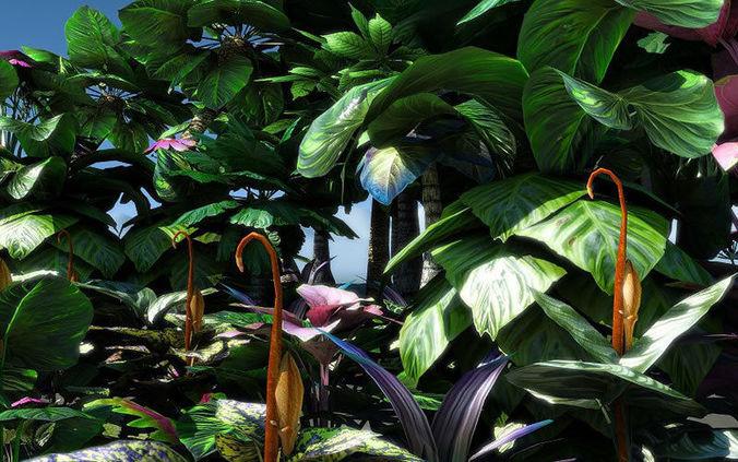 fantasy and alien vegetation 2 3d model low-poly obj fbx lwo lw lws dae X mtl 1