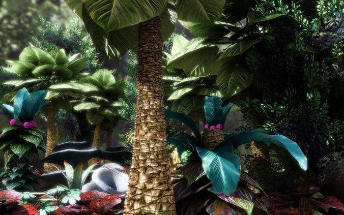 fantasy and alien vegetation 1 3d model low-poly obj mtl fbx lwo lw lws dae X unitypackage prefab 1
