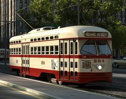 pcc streetcar 1945 3d model max obj 3ds fbx c4d