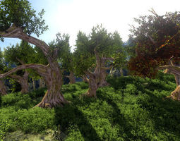 Fantasy Trees 3D asset