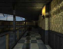 3D asset realtime Dirty Lobby