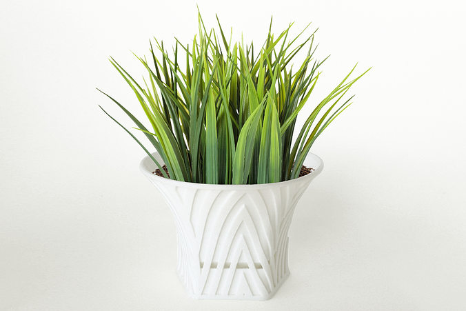 003d - planter - morph - mountain pattern -  3d model stl 1