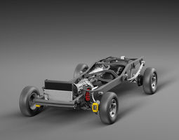 Chassis Toyota Tundra Pickup 3D model